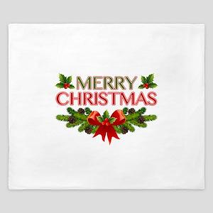 Merry Christmas Berries & Holly King Duvet