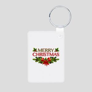 Merry Christmas Berries & Holly Aluminum Photo Key