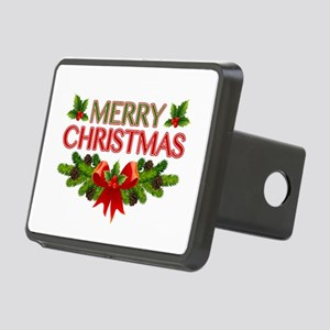 Merry Christmas Berries & Holly Rectangular Hitch