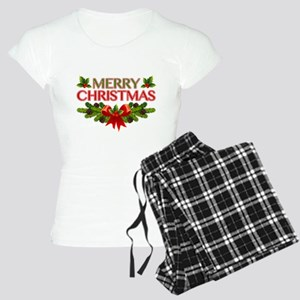Merry Christmas Berries & Holly Women's Light Paja