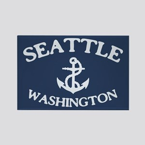 Seattle Anchor Rectangle Magnet