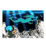 Blue Mermaid Postcards (Pack of 8)