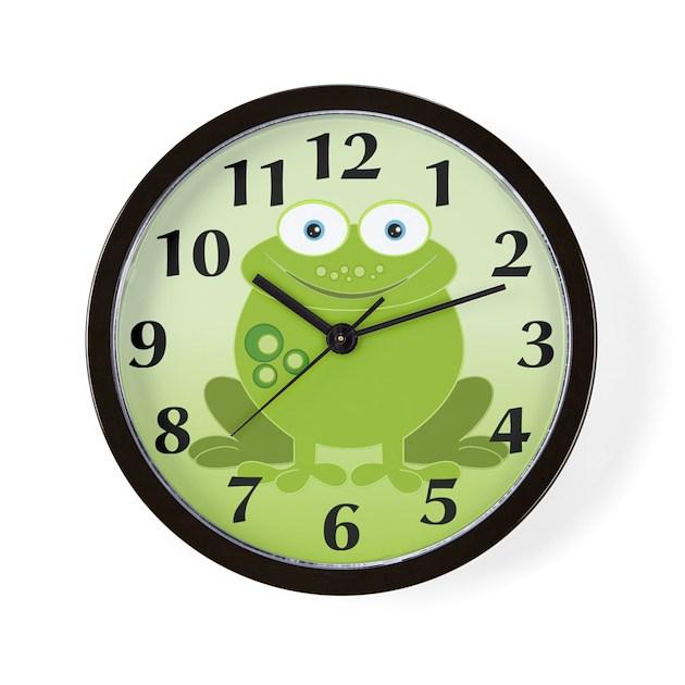 Green Frog Wall Clock By Stylesplus
