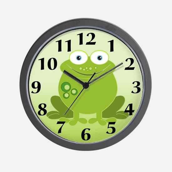 Green Frog Wall Clock