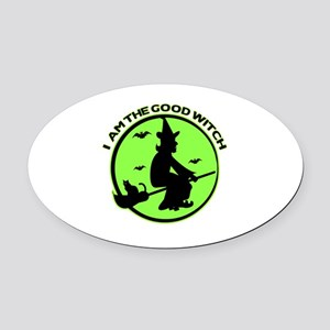 Good Witch Oval Car Magnet