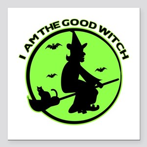 "Good Witch Square Car Magnet 3"" x 3"""