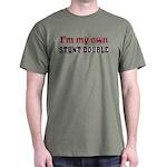 I Do My Own Stunts Dark T-Shirt