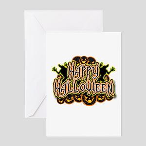 Spooky Happy Halloween Greeting Card