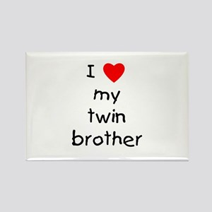 I love my twin brother Rectangle Magnet
