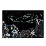Neon Mermaid Postcards (Pack of 8)