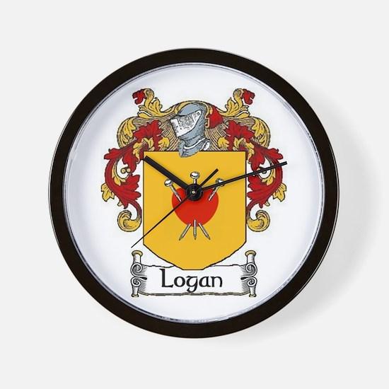Logan Coat of Arms Wall Clock