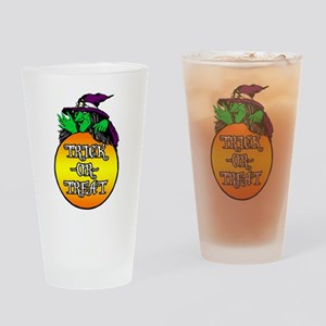 Witch Trick Or Treat Drinking Glass
