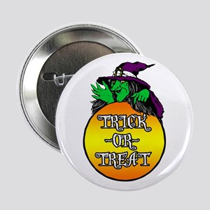 """Witch Trick Or Treat 2.25"""" Button"""