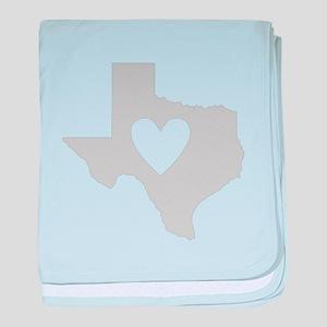 Heart Texas baby blanket