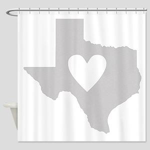 Heart Texas Shower Curtain