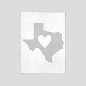 Heart Texas 5'x7'Area Rug