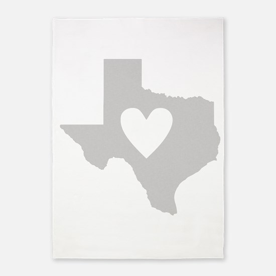 Heart Texas 5'x7'Area Rug