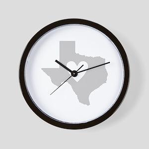 Heart Texas Wall Clock