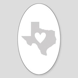 Heart Texas Sticker (Oval)