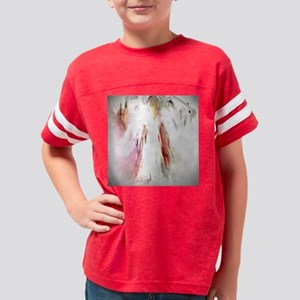 Abstract Angel in White Youth Football Shirt