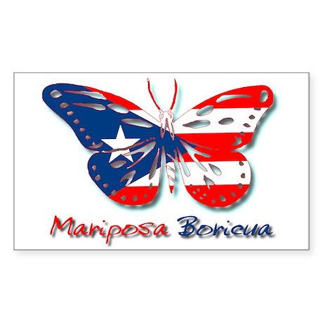 Mariposa Boricua Rectangle Sticker