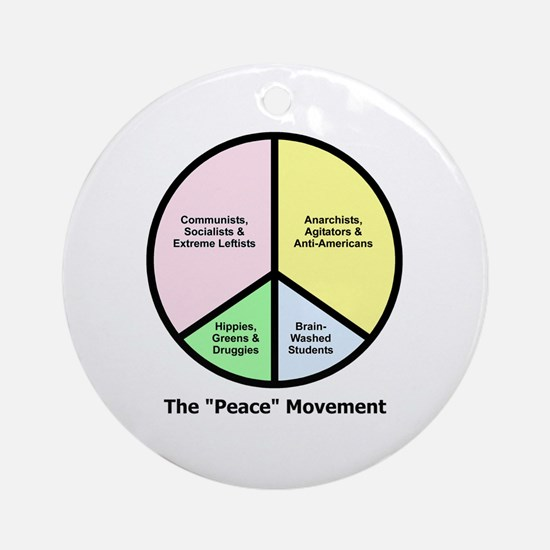 "The ""Peace"" Movement Ornament (Round)"