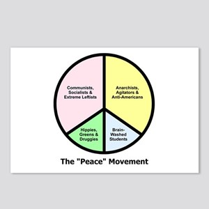 """The """"Peace"""" Movement Postcards (Package of 8)"""