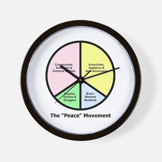 "The ""Peace"" Movement Wall Clock"