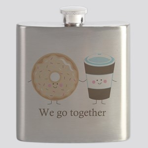 We go together like coffee and donuts Flask