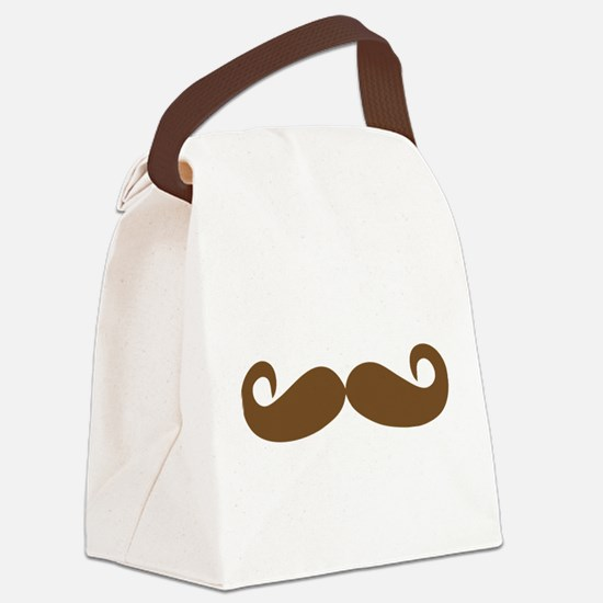 Mustache Canvas Lunch Bag