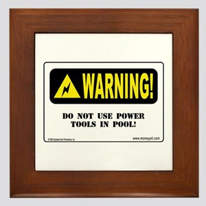 'Power Tools and Pool'  Framed Tile