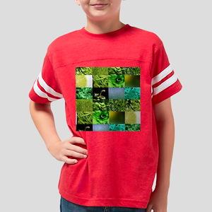 Green Photo Texture Mosaic Youth Football Shirt