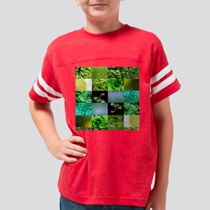 Green Photo Textures Collage Youth Football Shirt