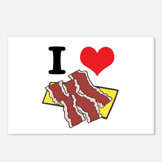 I Heart (Love) Bacon Postcards (Package of 8)