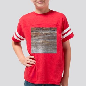 Wood Plank Youth Football Shirt