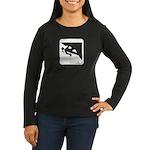 Climbing Girl Icon Women's Long Sleeve Dark T-Shir