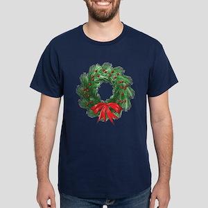 Wreath and Bow Dark T-Shirt