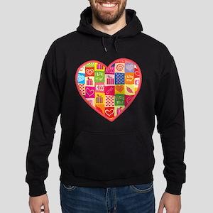Valentine's Day Heart Hoodie (dark)