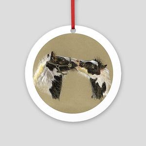 Kissing Vanners keepsake Ornament (Round)