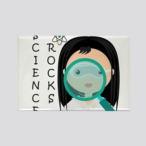 Girl Science Rocks Rectangle Magnet
