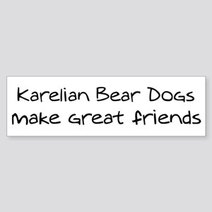 Karelian Bear Dogs make frien Bumper Sticker