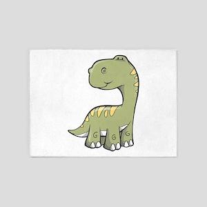 Cute Baby Dino 5'x7'Area Rug