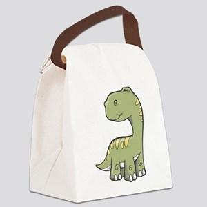 Cute Baby Dino Canvas Lunch Bag