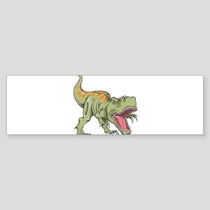 Screaming Dinosaur Bumper Sticker