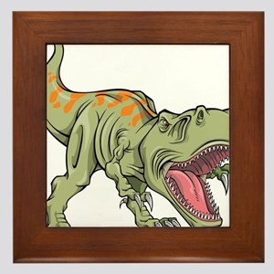 Screaming Dinosaur Framed Tile