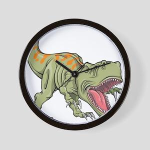 Screaming Dinosaur Wall Clock