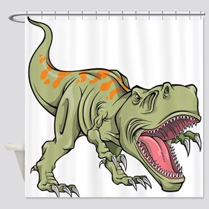 Screaming Dinosaur Shower Curtain
