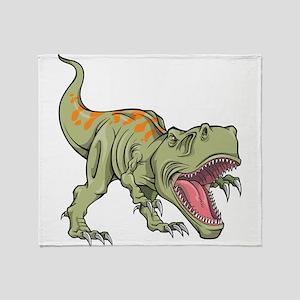 Screaming Dinosaur Throw Blanket