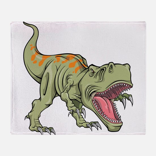 Screaming Dinosaur Throw Blanket