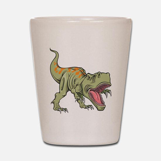 Screaming Dinosaur Shot Glass